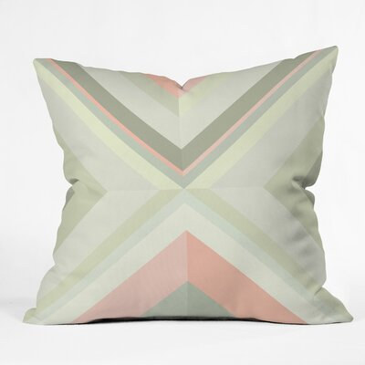 Iveta Abolina Matcha Chevron Throw Pillow Size: 18 x 18
