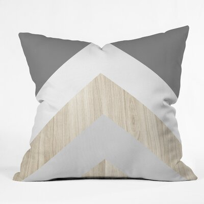 Iveta Abolina Chevron Peak Throw Pillow Size: 18 x 18