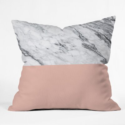 Kelly Haines Color Block Marble Throw Pillow Size: 18 x 18