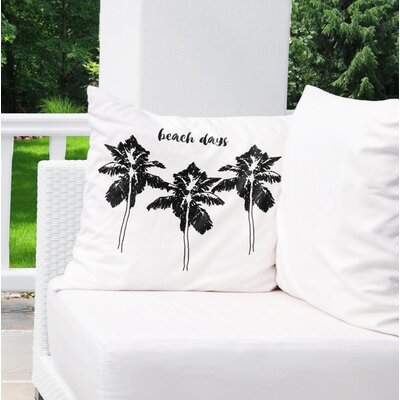 Indoor/Outdoor Euro Pillow Color: Black/ White