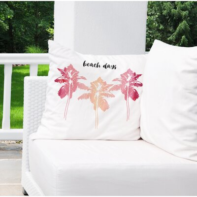 Indoor/Outdoor Euro Pillow Color: Pink/ Pink/ Black/ White