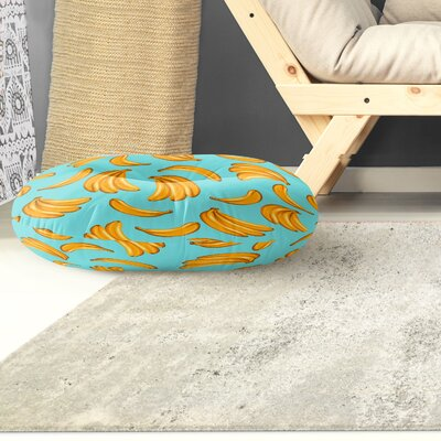 Banana Round Floor Pillow Size: 26 H x 26 W