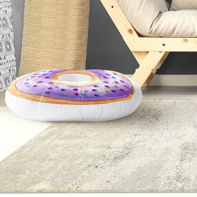 Donut Round Floor Pillow Size: 26 H x 26 W
