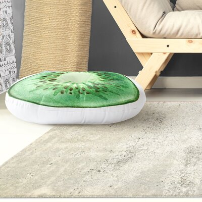 Modern Kiwi Floor Pillow Size: 26 H x 26 W