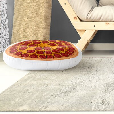 Pepperoni Round Floor Pillow Size: 26 H x 26 W