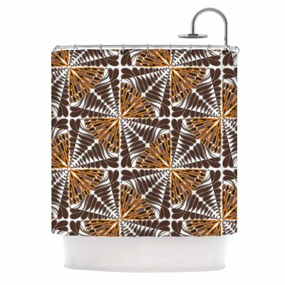 Miranda Mol Butterfly Wings Shower Curtain Color: Orange