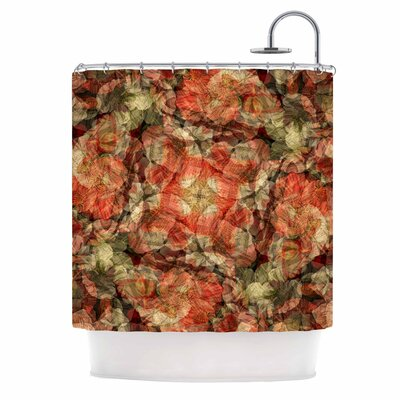 Justyna Jaszke Mandala Fire Art Shower Curtain