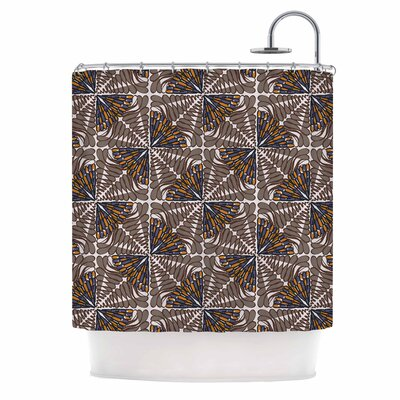 Miranda Mol Butterfly Wings Shower Curtain Color: Brown