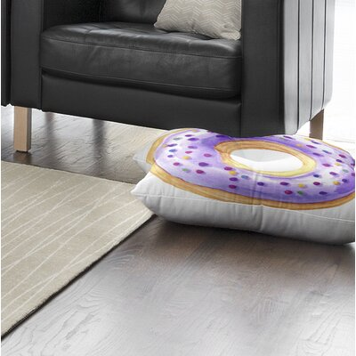 Donut Square Floor Pillow Size: 26 H x 26 W