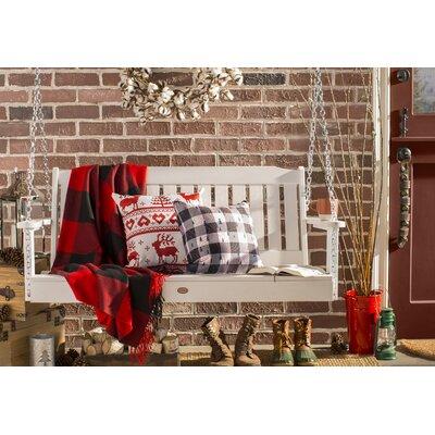 Logsdon Knitting Deer Indoor/Outdoor Throw Pillow Size: Medium