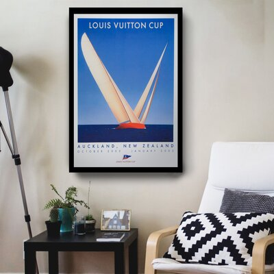 'Louis Vuitton 2002 Cup' Framed Graphic Art Print ESUN2620 43541357