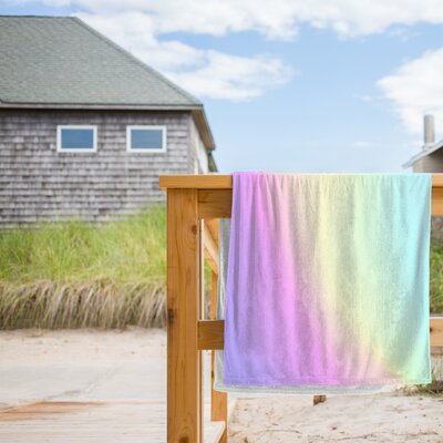 Holographic Texture Beach Towel