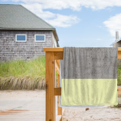 On Concrete Beach Towel