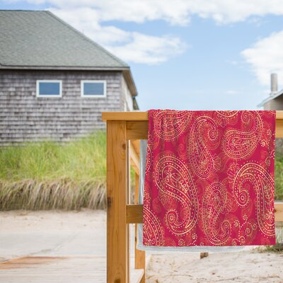 Crazy Paisley Beach Towel