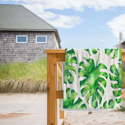 Monstera Leaves Beach Towel