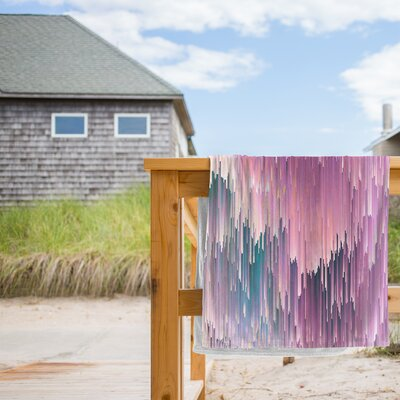 Bold Glitches Beach Towel