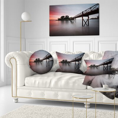 Santa Cruz Island Spain Seashore Photo Throw Pillow Size: 20 x 20