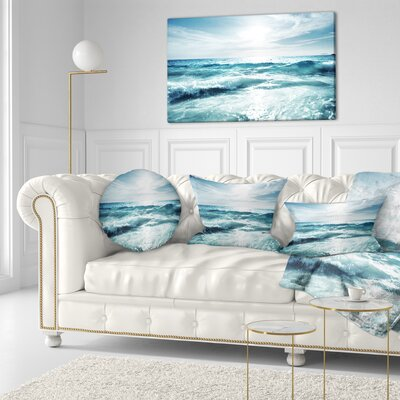 Seychelles Beach at Sunset Seascape Throw Pillow Size: 16 x 16