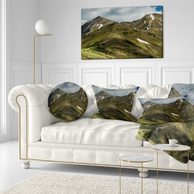 Trekking Patch in Tatra Mountains Landscape Printed Throw Pillow Size: 16 x 16
