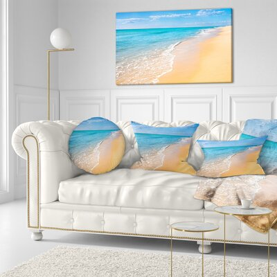 Tropical Sea and Sky Seashore Photo Throw Pillow Size: 20 x 20