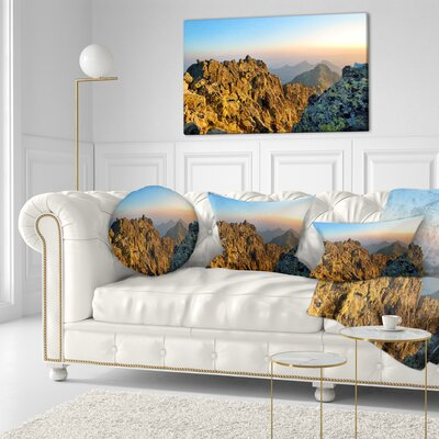 View from Baranie Rohy Peak Landscape Photo Throw Pillow Size: 16 x 16