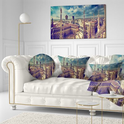 View on Royal Palace Palazzo Realle Cityscape Throw Pillow Size: 16 x 16