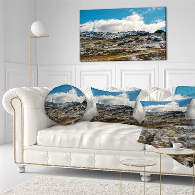 Wide View of Kosciuszko National Park Seashore Throw Pillow Size: 16 x 16