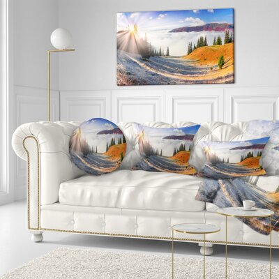 Beach Forest in Carpathians Landscape Photography Throw Pillow Size: 20 x 20