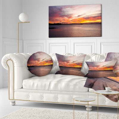 Sky over Calm Sydney Coast Seashore Throw Pillow Size: 16 x 16