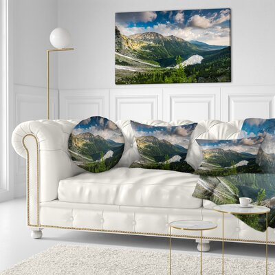 Summer at Polish Tatra Mountains Landscape Printed Throw Pillow Size: 20 x 20