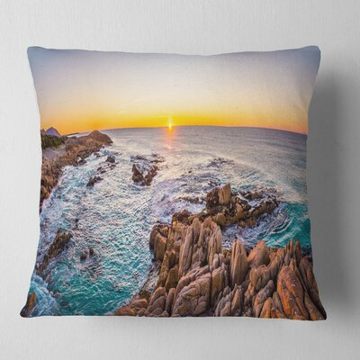 Sunrise at Freycinet Beach Landscape Printed Pillow Size: 26 x 26, Product Type: Euro Pillow