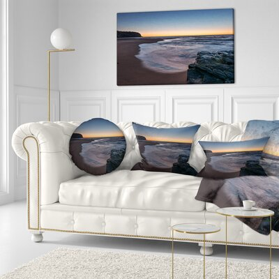 Sunrise at Sydney Sea Seascape Throw Pillow Size: 16 x 16