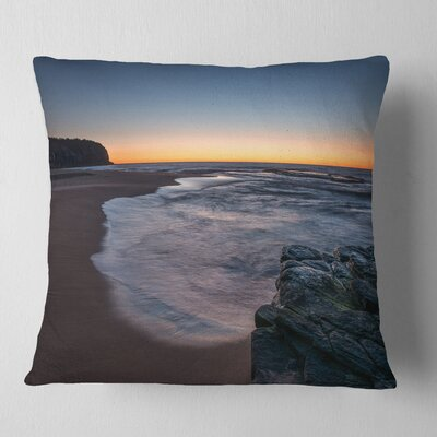 Sunrise at Sydney over Sea Seascape Pillow Size: 26 x 26, Product Type: Euro Pillow