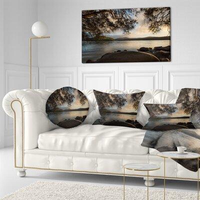 Sunrise from Hawsbury River Seashore Throw Pillow Size: 20 x 20