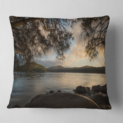 Sunrise from Hawsbury River Seashore Pillow Size: 26 x 26, Product Type: Euro Pillow