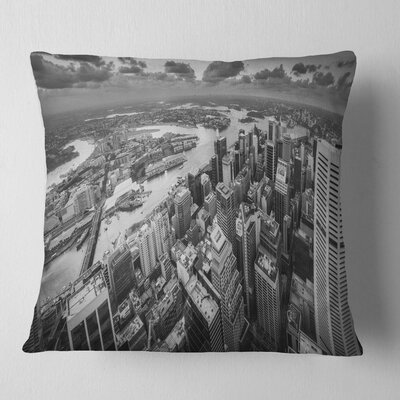 Sydney City Skyscrapers Panorama Cityscape Pillow Size: 18 x 18, Product Type: Throw Pillow