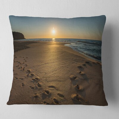 Sydney Seashore at Sunrise Seascape Pillow Size: 18 x 18, Product Type: Throw Pillow