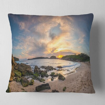 Sydney Seashore during Sunset Seascape Pillow Size: 16 x 16, Product Type: Throw Pillow