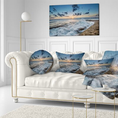 Sydney Sunset at La Per House Seascape Throw Pillow Size: 20 x 20