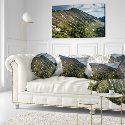 Tatra Mountains Panoramic View Landscape Printed Throw Pillow Size: 16 x 16
