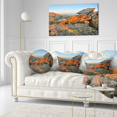 Tatra Mountains Peak Landscape Photography Throw Pillow Size: 16 x 16