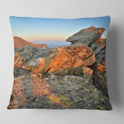 Tatra Mountains Peak Landscape Photography Pillow Size: 16 x 16, Product Type: Throw Pillow