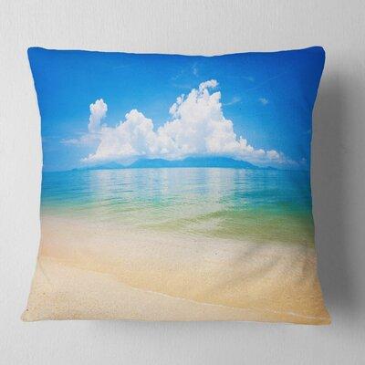 Cloudy Horizon over Sea Seashore Photo Pillow Size: 26 x 26, Product Type: Euro Pillow