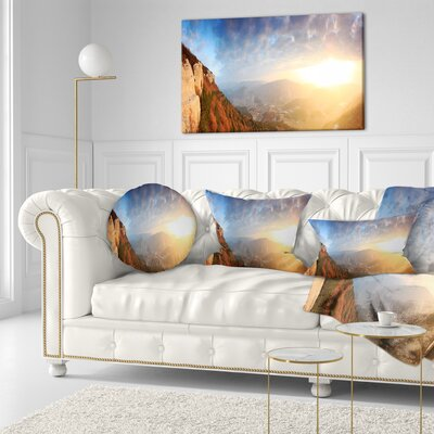Cave City Eski Kermen Landscape Photography Throw Pillow Size: 16 x 16