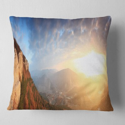 Cave City Eski Kermen Landscape Photography Pillow Size: 18 x 18, Product Type: Throw Pillow