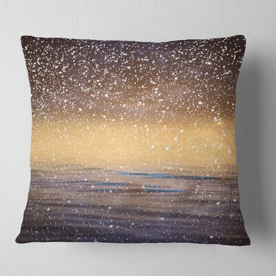 Sky Reflection in Lake Skyline Photography Pillow Size: 26 x 26, Product Type: Euro Pillow