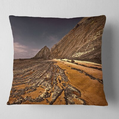 Rocky Coast Portugal Cityscape Pillow Size: 16 x 16, Product Type: Throw Pillow