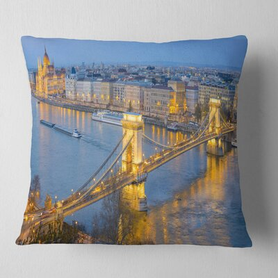 Chain Building and Parliament Pillow Size: 16