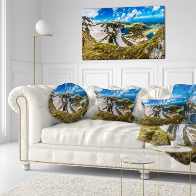 Clouds over Seven Rila Lakes Landscape Printed Throw Pillow Size: 20 x 20