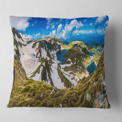 Clouds over Seven Rila Lakes Landscape Printed Pillow Size: 26 x 26, Product Type: Euro Pillow